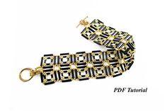 Bugle Beads Pattern Cuff Tutorial DIY Bracelet Bracelet