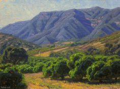 """Spring Afternoon Ojai"" by Charles Muench; 9""x12""; Oil on Linen #CaliforniaArt #EnPleinAir"