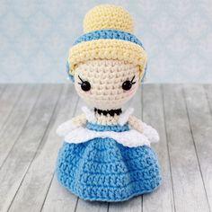 Вязаная кукла Золушка амигуруми крючком