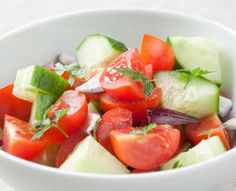 Tomato and Cukes in Dill   Total Carbohydrate 6g