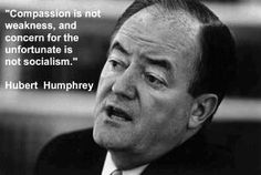 Hubert Humphrey spoke at my brother's graduation from The Naval Academy in the '60s.