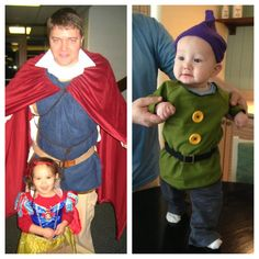 Prince Charming, little Snow White (official Disney costume), and my sweet Dopey!