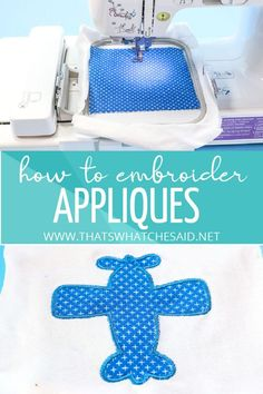 Step by step photo tutorial on how to use a Brother SE400/SE600 to embroider an applique. Start making applique shirts, towels and more! #embroidery #applique