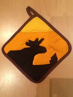 'Moose in Sunset' potholder for a Norwegian client