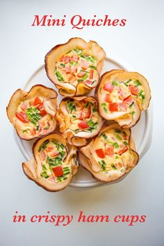 Mini Quiches in Crispy Ham Cups - My Gut Feeling