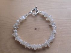 Moonstones Sterling Silver Bracelet Handmade by dragonflyridge, $25.00    Custom sizing available