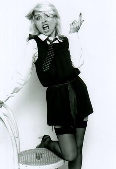 Debbie Harry supporting mini skirt day...