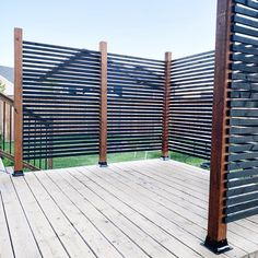Privacy Wall Outdoor, Porch Privacy, Backyard Privacy, Backyard Patio, Backyard Landscaping, Decks With Privacy Walls, Privacy Screen Deck, Outdoor Spaces, Outdoor Living