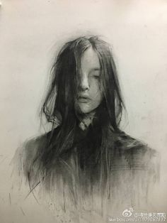 ideas drawing faces charcoal portraits - Everything About Charcoal Drawing and Sculpture L'art Du Portrait, Portrait Sketches, Art Sketches, Art Drawings, Pencil Drawings, Contour Drawings, Drawing Faces, Life Drawing, Gesture Drawing