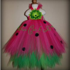 Watermelon- wouldn't it be cute if ryleigh wore this!  i wish i could sew!