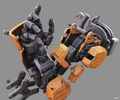 Photos of the Day: Halo 5 Designer Models Robot Arm, Metallic Design