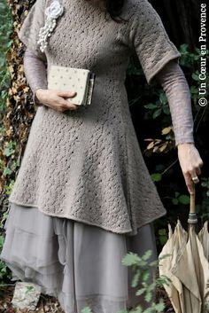"Tulle petticoat ""Lilith"", sweater-dress in ""L'Atelier des Ours,"" flower brooch ""Myrine & Me"""
