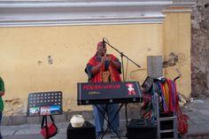 Pan flute -- street playing in Antigua, Guatemala