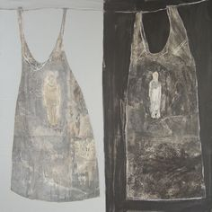 "Edith Snoek ~ ""2 jurkjes"" (2011) - Acrylic on canvas 100 x 100 cm …2 dresses  edithsnoek.nl"