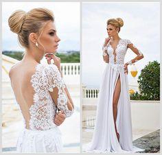 Cheap 2015 Wedding Dresses - Discount 2014 Dimitrius Dalia a Line Wedding Dresses Lace Online with $137.3/Piece | DHgate
