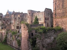 Heidelberg Castle, Germany. <3 I know right where this is. :)