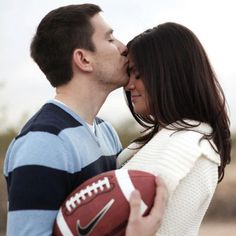 OMG Clark Walterhouse I need to apologize in advance lol Football Wedding Theme Ideas - Unique Sports Wedding Ideas Football Wedding, Sports Wedding, Couple Photography, Engagement Photography, Wedding Photography, Engagement Session, Photography Ideas, Engagement Pictures, Wedding Pictures