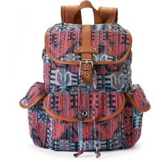 Mudd Brennan Aztec Backpack (Red) ($24) ❤ liked on Polyvore featuring bags, backpacks, backpack, red, top handle bag, drawstring backpack bags, red top handle bag, aztec print backpack and rucksack bag