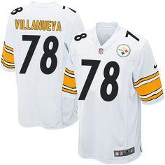 b82e4e18e80 ... Nike Pittsburgh Steelers Mens 78 Alejandro Villanueva Game White Road  NFL Jersey ...