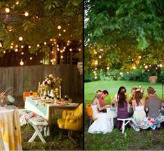love the outside wedding idea