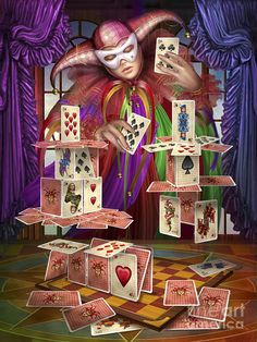 House Of Cards Digital Art  - House Of Cards Fine Art Print