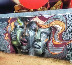 Street Art by AQI Luciano in Maceió, Brazil  #art #arte #graffiti #streetart