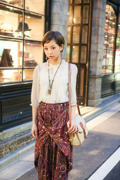 Midori Arai wearing  Grimoire Almadel, and reinette et mirabelle in Shibuya | Fashionsnap.com