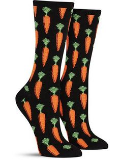 These carrot socks were made for more than just Bugs Bunny. Since being forced to eat them as a kid, your budding love for carrots has grown to a crazy obsession… and you have unique 20/20 vision to p