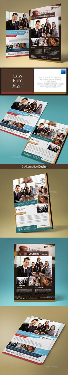Law Firm US Letter Profile Template 0048 Font logo - firm profile format