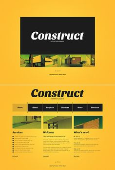 Template 38440 - Construct Architect Website Template