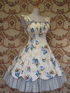 Mary Magdalene / Jumper Skirt / Custard Rose OP (Re-release) Vestidos Vintage, Vintage Dresses, Vintage Outfits, Vintage Fashion, Pretty Outfits, Pretty Dresses, Beautiful Dresses, Cute Outfits, Kawaii Fashion