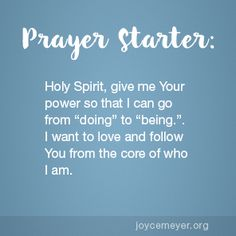 """Let the Holy Spirit Take You from """"Doing"""" to """"Being"""""""
