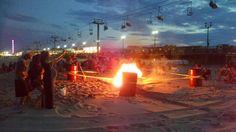 Bonfire On The Beach...in #seasideheights