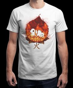"""""""Fire Flower Pokè"""" is today's £9/€11/$12 tee for 24 hours only on www.Qwertee.com Pin this for a chance to win a FREE TEE this weekend. Follow us on pinterest.com/qwertee for a second! Thanks:)"""