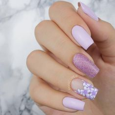 151 phenomenal ombre nail art designs ideas for this year – page 1 Acrylic Nails Natural, Best Acrylic Nails, Acrylic Nails For Spring, Spring Nail Art, Violet Pastel, Purple Lilac, Lavender Nails, Cute Acrylic Nail Designs, Dream Nails