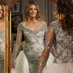 Castle Series, Castle Tv, Stana Katic Hot, Kate Beckett, True Beauty, Most Beautiful Women, Wedding Dresses, Lady, Places