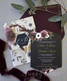 Hey, I found this really awesome Etsy listing at https://www.etsy.com/listing/573647196/burgundy-navy-wedding-invitation-vellum