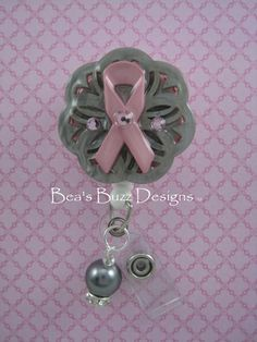 PINKNPEARLS   Fancy Retractable ID Badge Holder