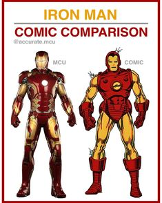 "2,817 Likes, 45 Comments - • Accurate.MCU • mcu fanpage (@accurate.mcu) on Instagram: ""• IRON MAN - COMIC COMPARISON•  I love every ironman suit in the mcu but my favorite has to be mark…"""