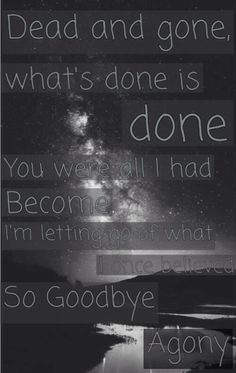 Black Veil Brides - Goodbye Agony ❤️