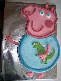 George Pig and Dino Cake