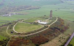 View of Castle Hill from the air