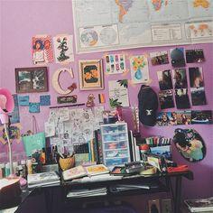 My desk is slightly messy and I'm kinda loving it