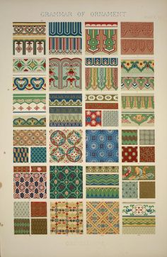 Chinese Ornament no. 2: Ornaments painted on porcelain and wood from woven fabrics.