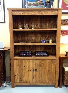 Newly Made Bookshelf With Reclaimed Elm Bookshelves, Bookcase, Asian, Accessories, Furniture, Home Decor, Bookcases, Decoration Home, Room Decor