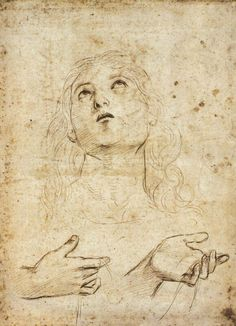 RAFFAELLO Sanzio Study for St Thomas 1502-03 Silverpoint on white prepared paper, 268 x 196 mm