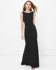 Ann Final - Black Drape Back Gown
