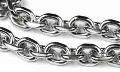 Stainless Steel Chain _#201: 4.5x6mm Medium Diamond Cut Cable Chain (by the foot)  at OhioBeads.com