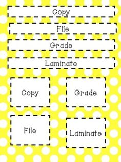 Primary Polka Dot Classroom Organization Pack - teacher to do items!