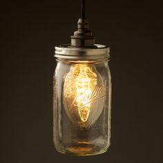 Widemouth Preserving Jar E27 240V pendant light